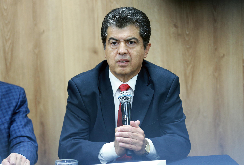 El Jefe del Departamento de Música del CUAAD, maestro Sergio Eduardo Medina Zacarías, en uso de la palabra
