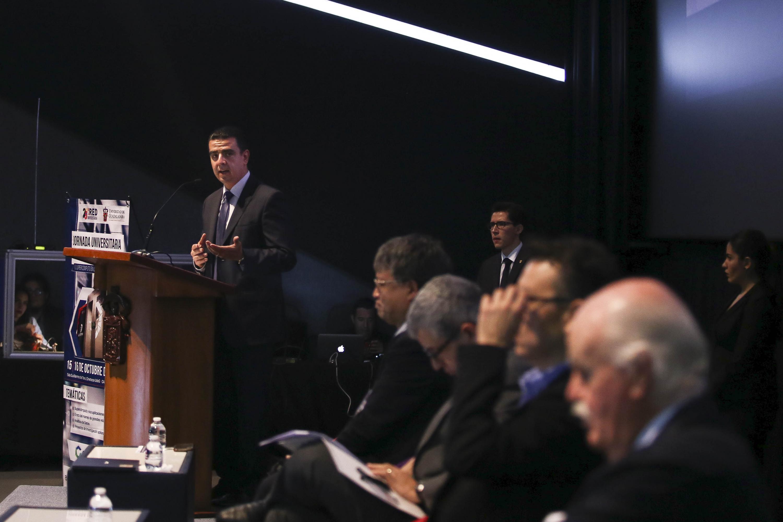 El titular de la Coordinación General de Tecnologías de la Información (CGTI), doctor Luis Alberto Gutiérrez Díaz de León, en uso de la palabra