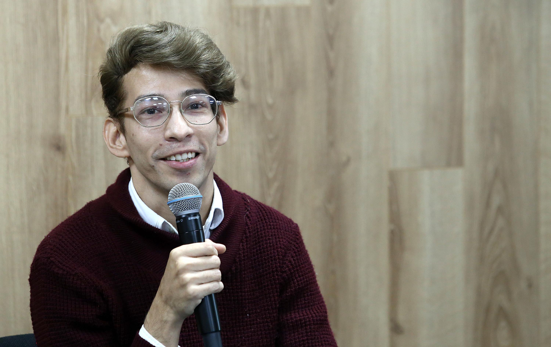 El maestro en Generación y Gestión de la Innovación, José Antonio Olivo, en uso de la voz