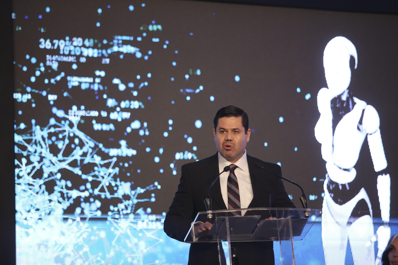 El Director del SURTyC y Presidente de la Asociación de las Televisiones Educativas y Culturales Iberoamericanas (ATEI), maestro Gabriel Torres Espinoza