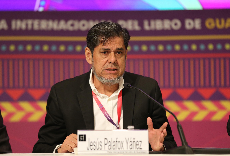 El Secretario General del STAUdeG, Jesús Palafox Yáñez, en uso de la palabra