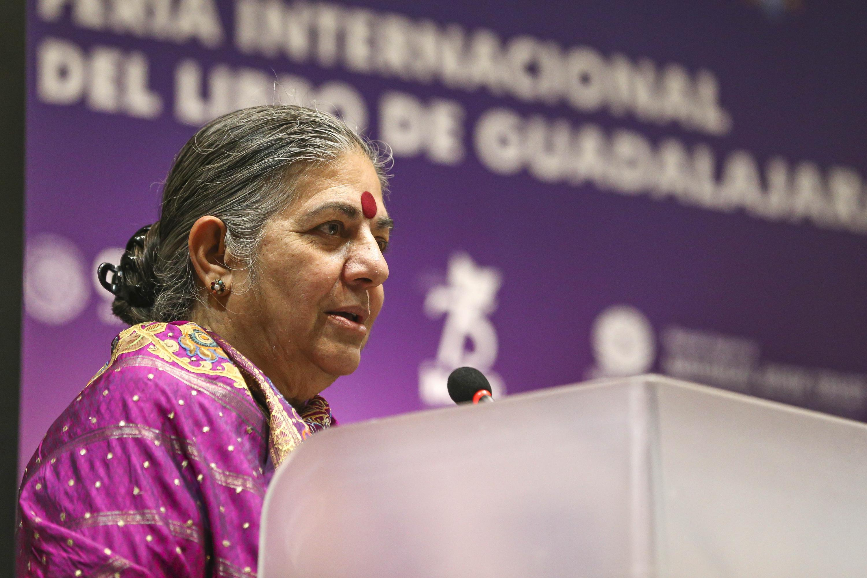 La doctora Vandana Shiva