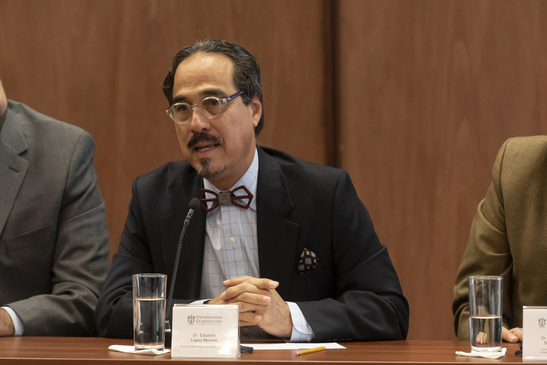 El Director de Investigación y Construcción de Capacidades de ONU Hábitat para México, Cuba y Centroamérica, doctor Eduardo López Moreno