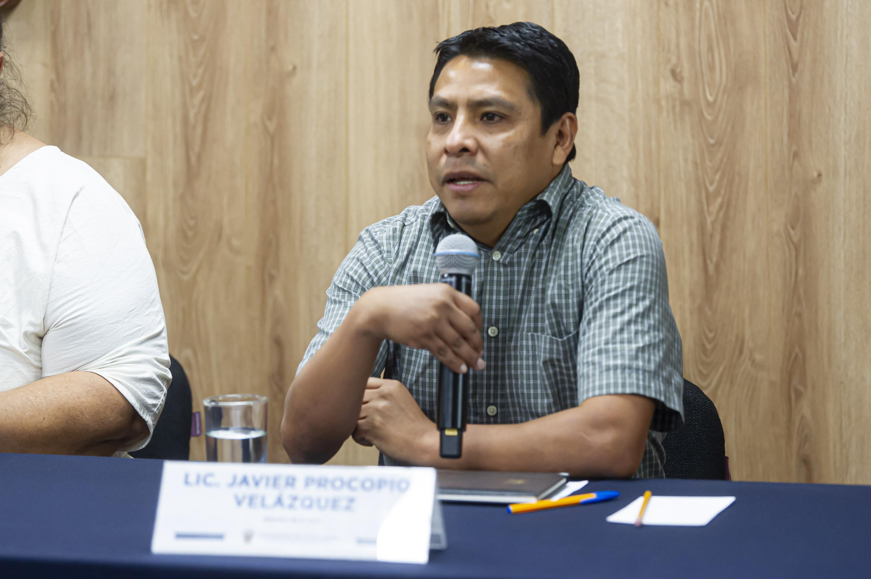 El licenciado Javier Procopio Velázquez, miembro de la UACI
