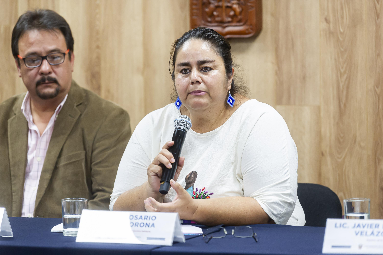 La responsable del Programa de Economía Solidaria de la UACI, maestra Rosario Anaya Corona