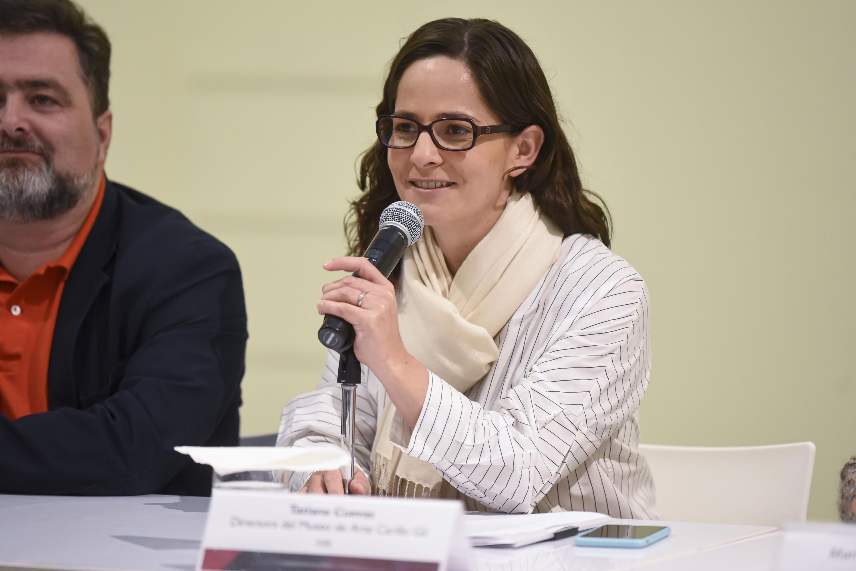 La Directora del Museo de Arte Carrillo Gil, doctora Tatiana Cuevas Guevara