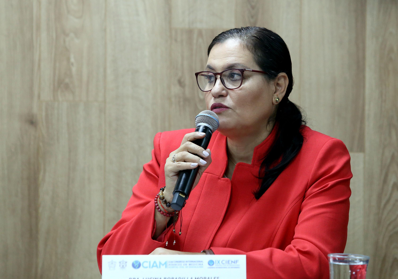 La coordinadora del módulo, doctora Lucina Bobadilla Morales