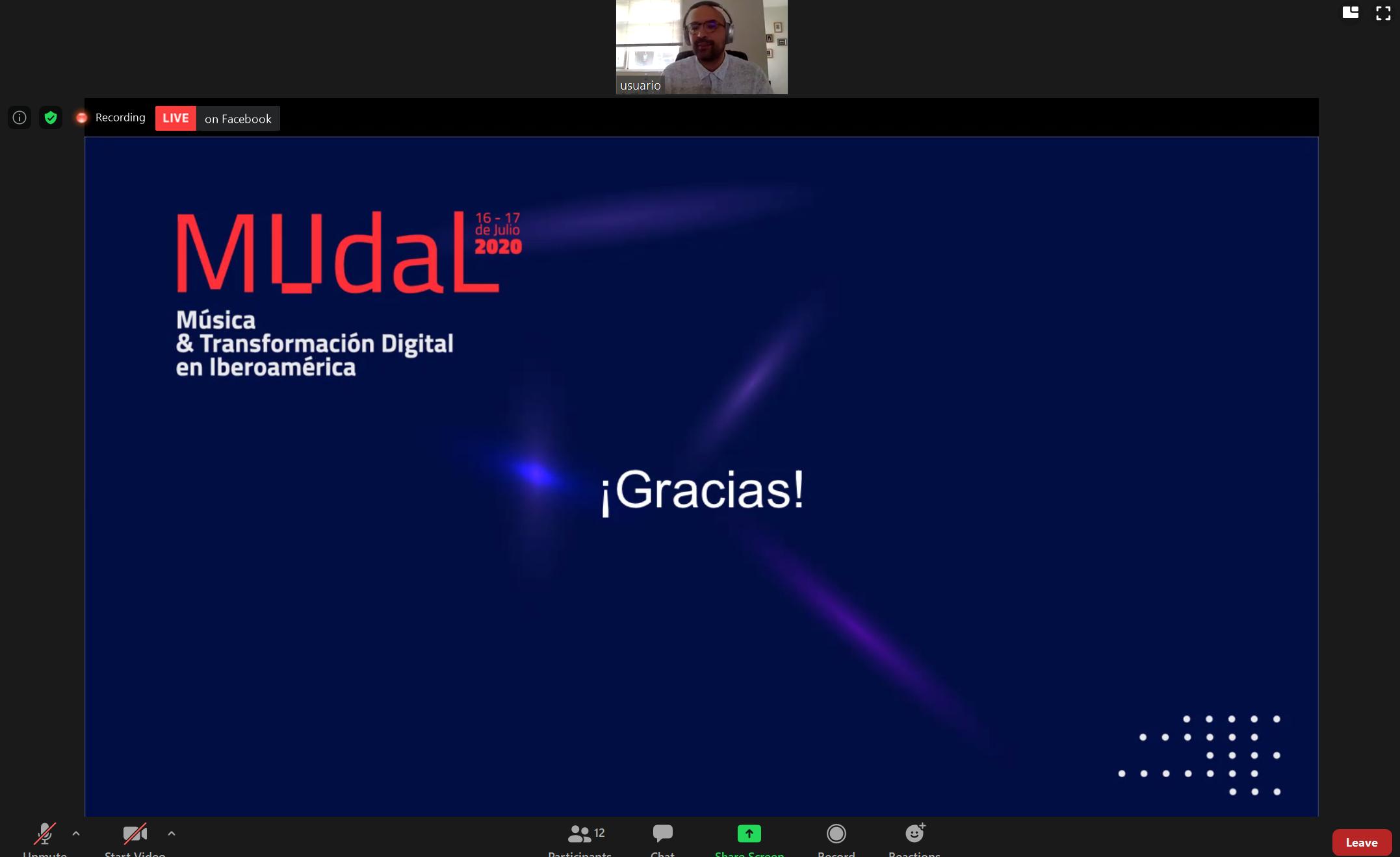 Identida grafica del MUdaL Música & Transformación Digital en Iberoamérica