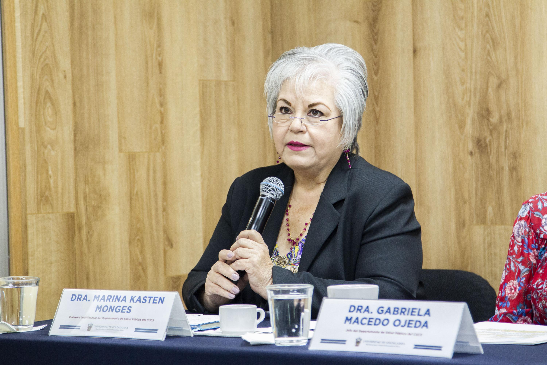 La profesora investigadora del CUCS, doctora Marina Kasten Monges