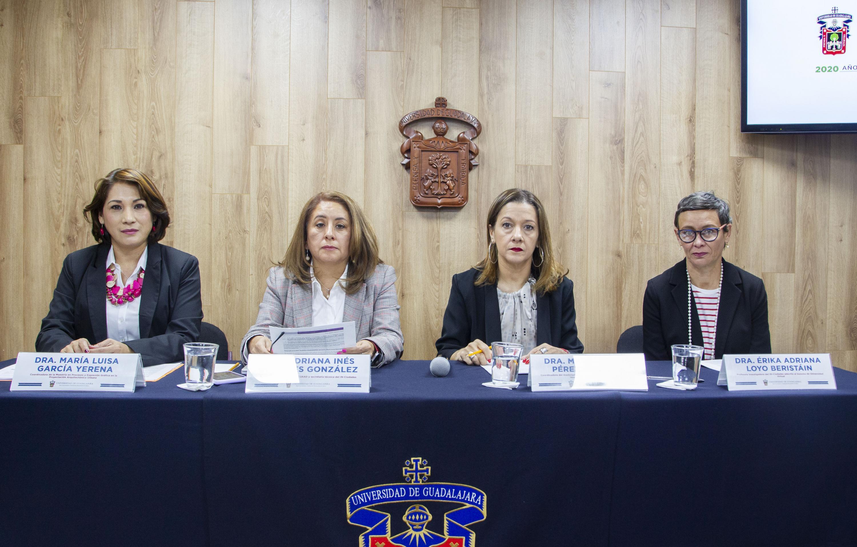 Académicas en rueda de prensa para analizar el binomio Mujer-Ciudades, en el marco del Día Internacional de la Mujer