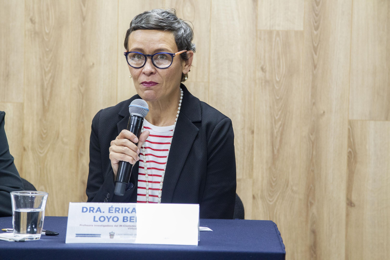 La investigadora del INCiudades, doctora Érika Adriana Loyo Beristaín