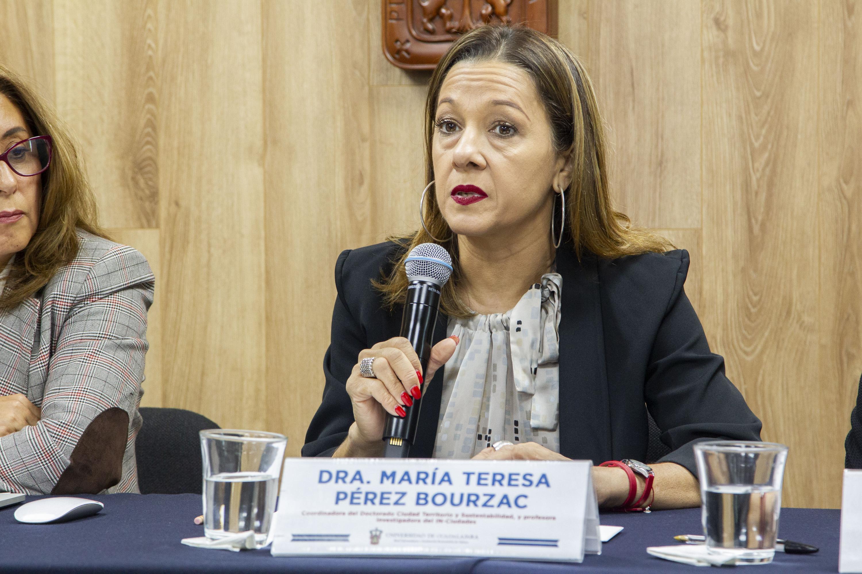 Del doctorado en Ciudad, Territorio y Sustentabilidad, doctora María Teresa Pérez Bourzac