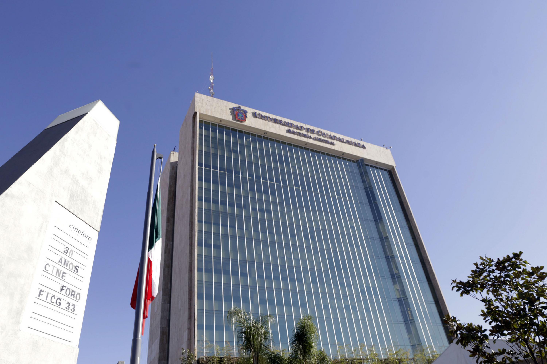 Fachada del edificio de la Rectoría General de la Universidad de Guadalajara