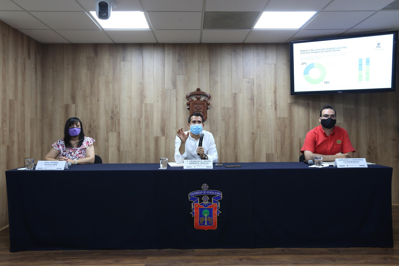 Rueda de presa de la Federación de Estudiantes Universitarios (FEU)