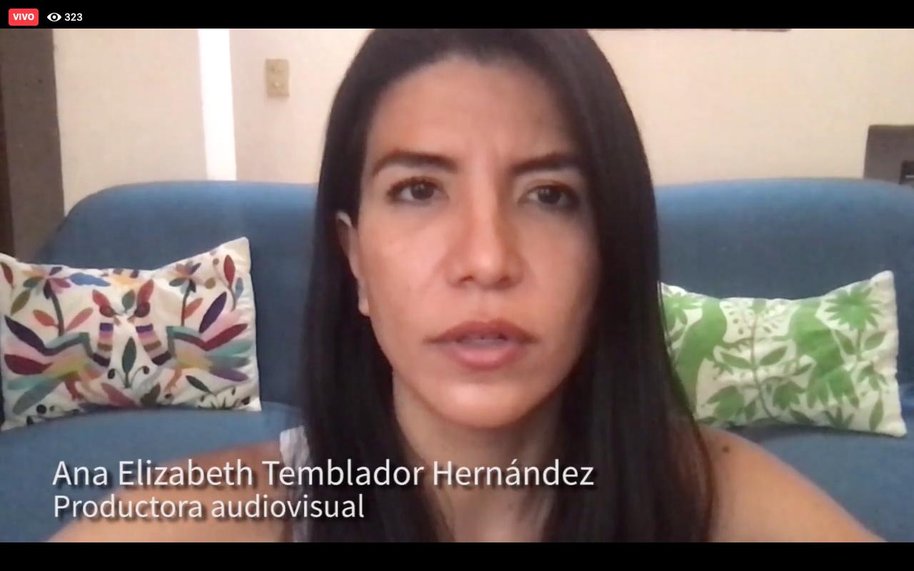 La productora audiovisual, Ana Elizabeth Temblador Hernández