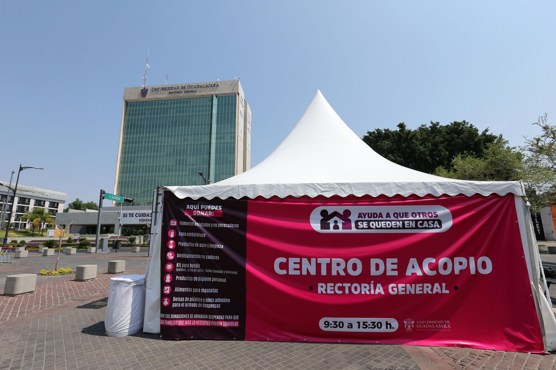 Instalan centros de acopio en todas las preparatorias de la UdeG en Jalisco para apoyar a afectados por contingencia sanitaria