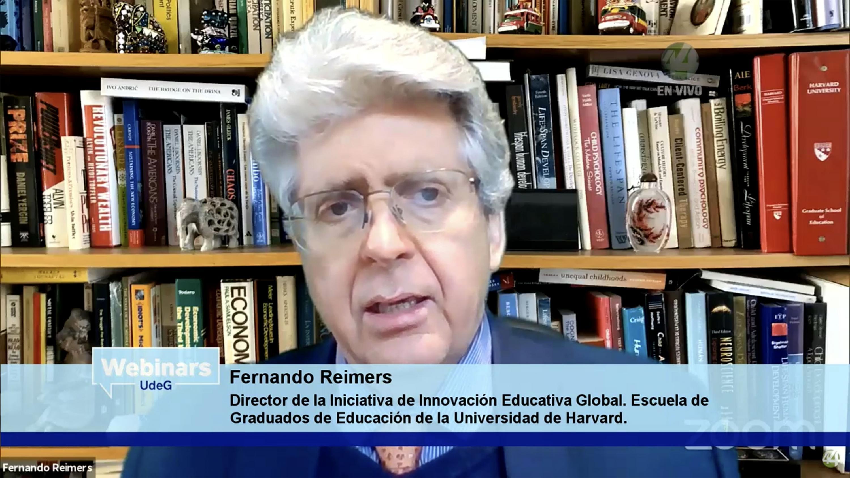 El Director de la iniciativa de innovación Educativa Global, de la Escuela de Graduados de Educación de la Universidad de Harvard, doctor Fernando M. Reimers