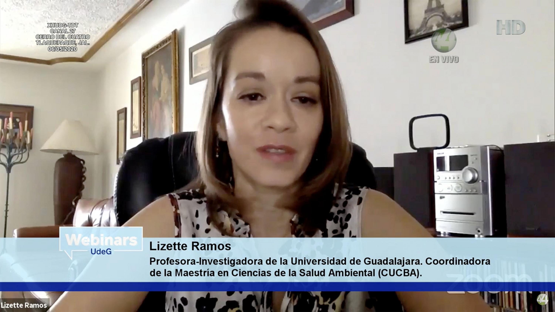 La profesora-investigadora de la UdeG, Coordinadora de la Maestría en Ciencias de la Salud Ambiental del (CUCBA), doctora Silvia Lizette Ramos de Robles