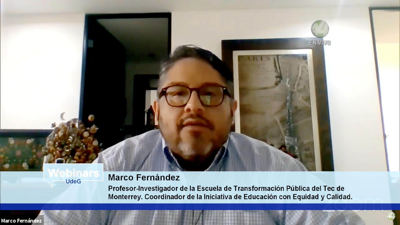 El profesor-investigador de la Escuela de Gobierno del Tecnológico de Monterrey, doctor Marco Antonio Fernández Martínez