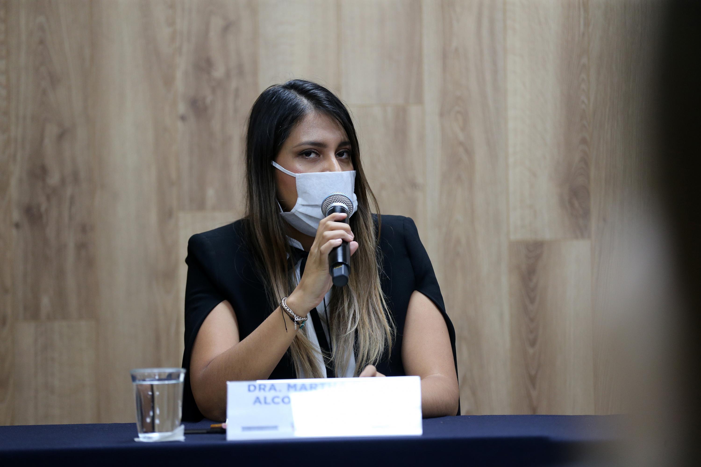 La maestra Martha Diana Alcocer Vázquez, investigadora del Instituto de Astronomía y Meteorología (IAM) de la Universidad de Guadalajara