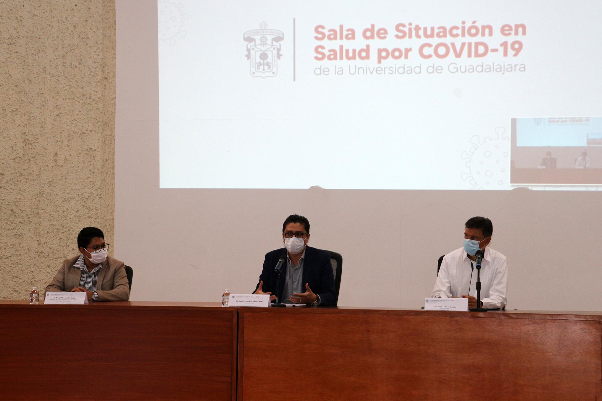 Presentan en este plantel la Sala de Situación en Salud por COVID-19 de la UdeG a presidentes municipales del Sur de JaliscoPresentan en este plantel la Sala de Situación en Salud por COVID-19 de la UdeG a presidentes municipales del Sur de Jalisco