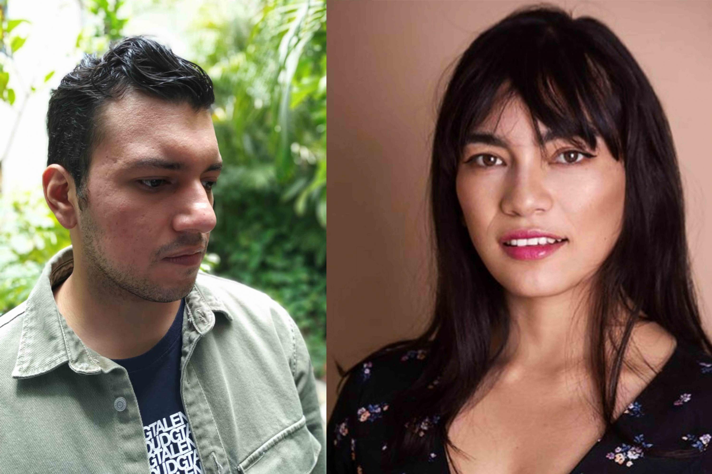 Los alumnos Tonatiuh Delgado Figueroa, Sulei Bautista González