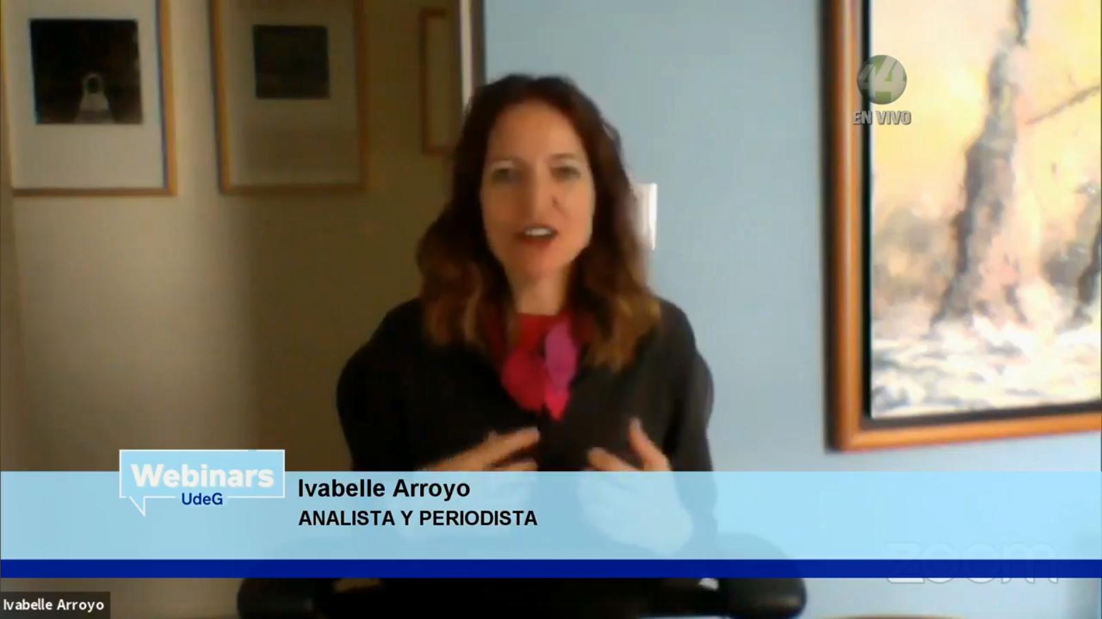 La periodista Ivabelle Arroyo