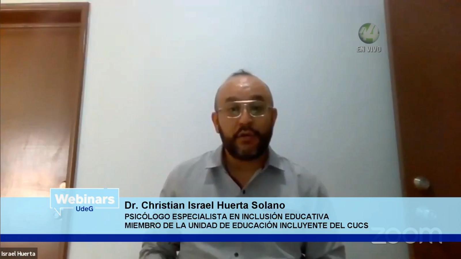 El psicólogo, especialista en inclusión educativa y miembro de la Unidad de Educación Incluyente, del Centro Universitario de Ciencias de la Salud (CUCS), doctor Israel Huerta Solano