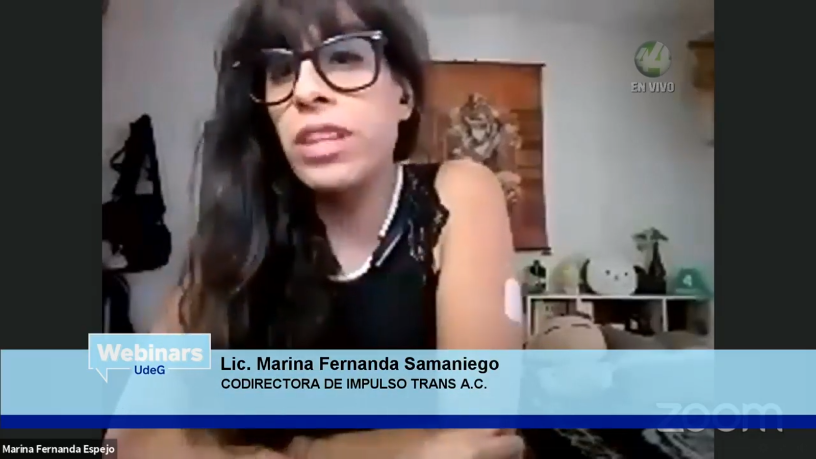 La Codirectora de Impulso Trans, AC, e Incidir AC, Marina Fernanda Samaniego