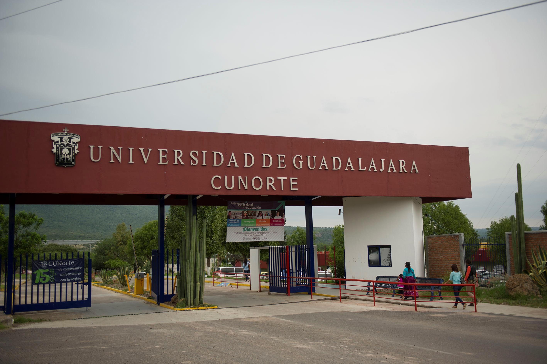 Fachada de la entrada del Centro Universitario del Norte (CUNorte)