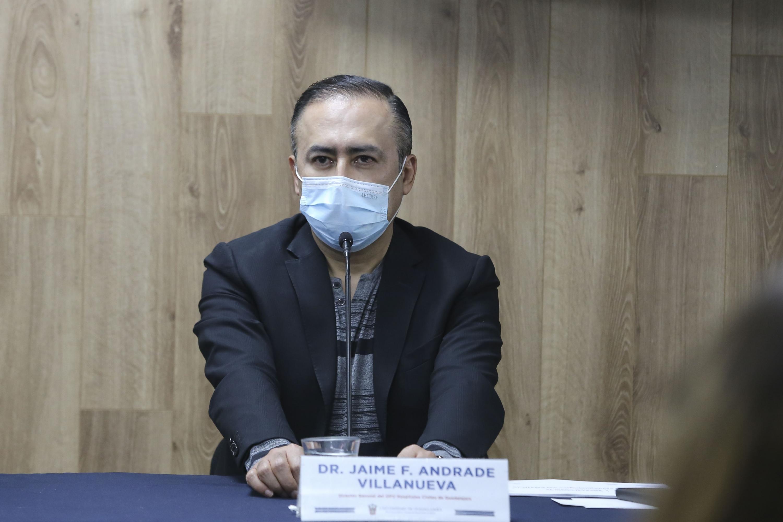 El Director del OPD Hospital Civil de Guadalajara, doctor Jaime F. Andrade Villanueva