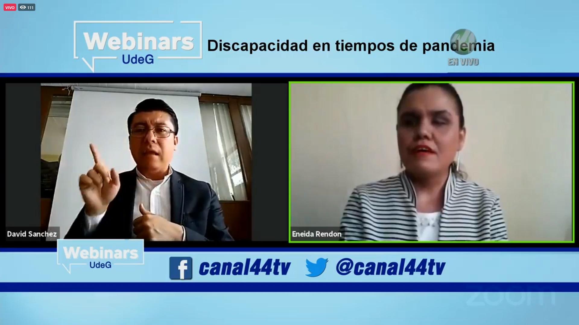 """Presentan webinar """"COVID-19: Discapacidad en tiempos de pandemia"""", organizado por la Universidad de Guadalajara y Jalisco a Futuro"""