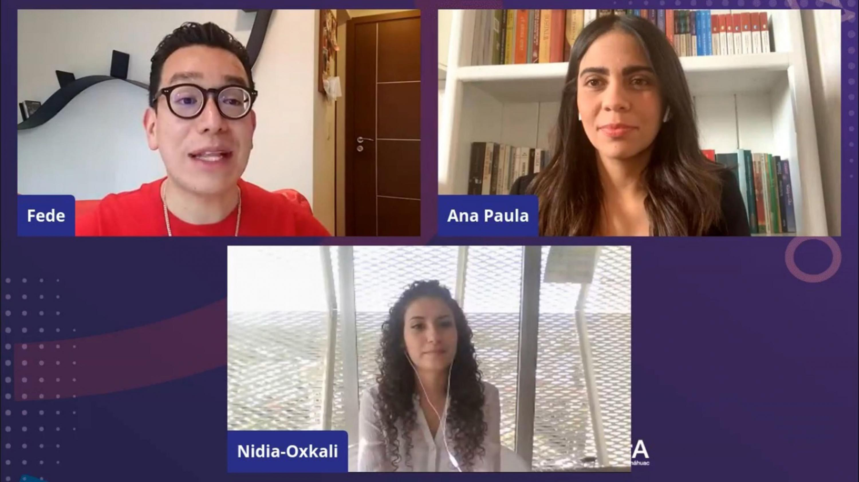 Participantes del proyecto Oxkali Salud, fundado por una estudiante de CUCEI, fue el ganador en el concurso de emprendimiento Jaliscup 2020