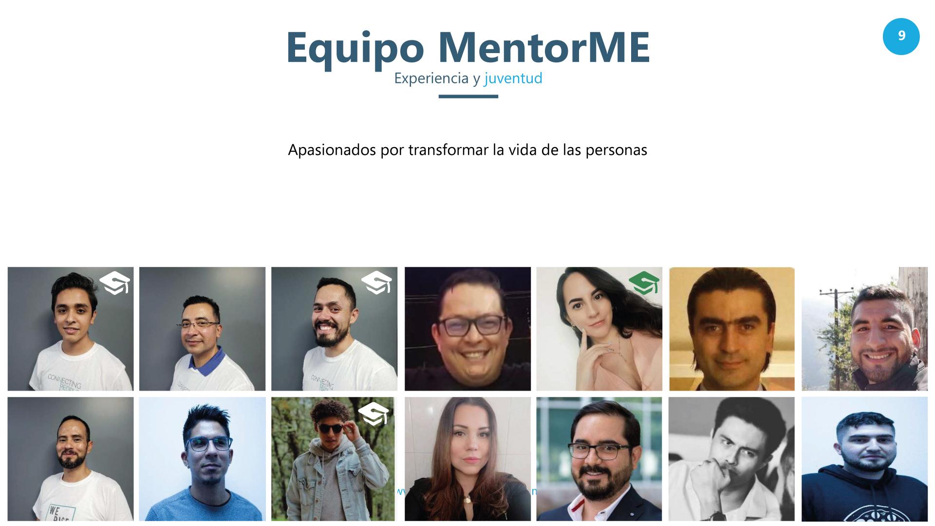 Integrantes de equipo MentorMe