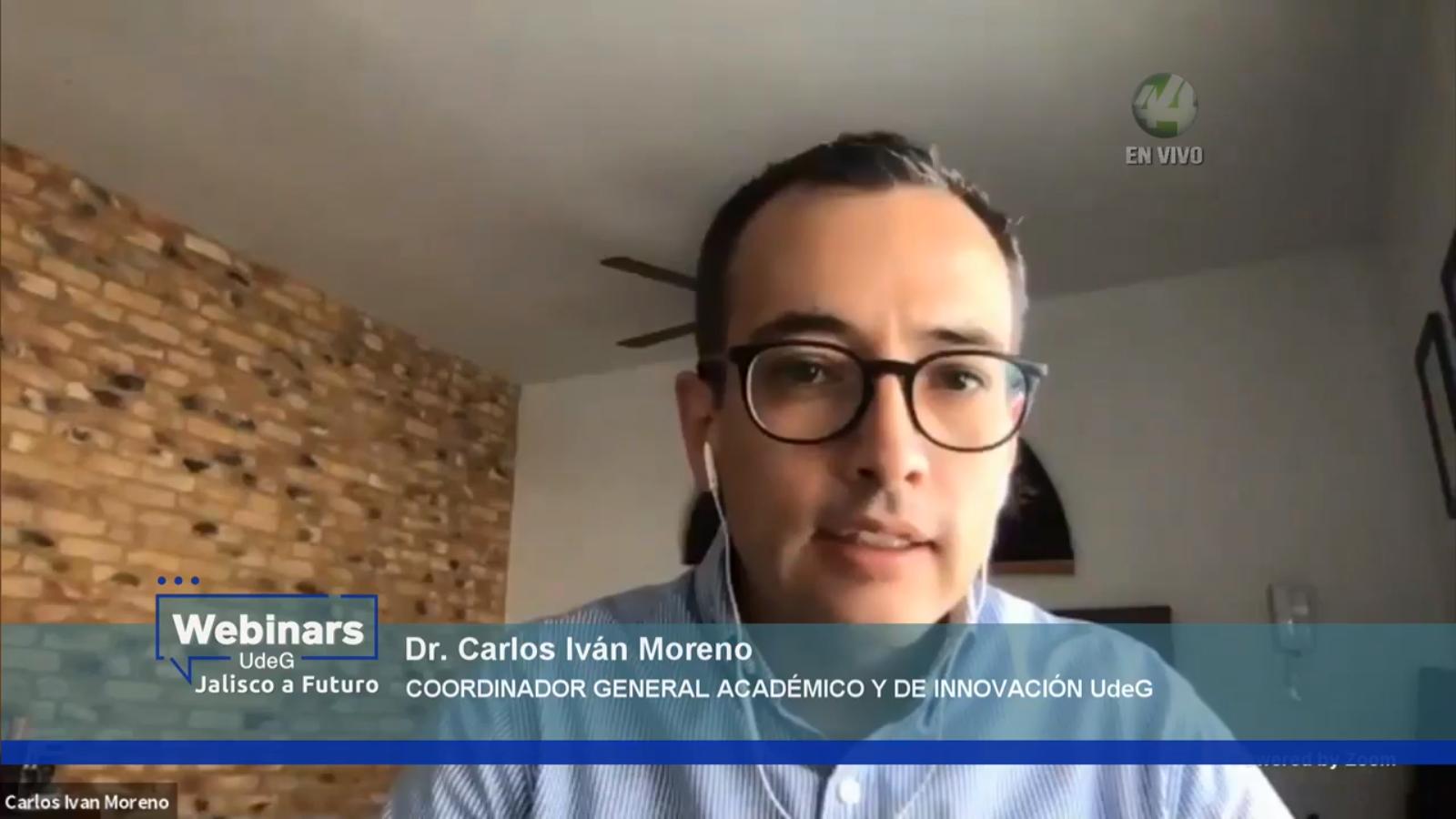 El titular de la Coordinación General Académica y de Innovación de la UdeG, doctor Carlos Iván Moreno Arellano