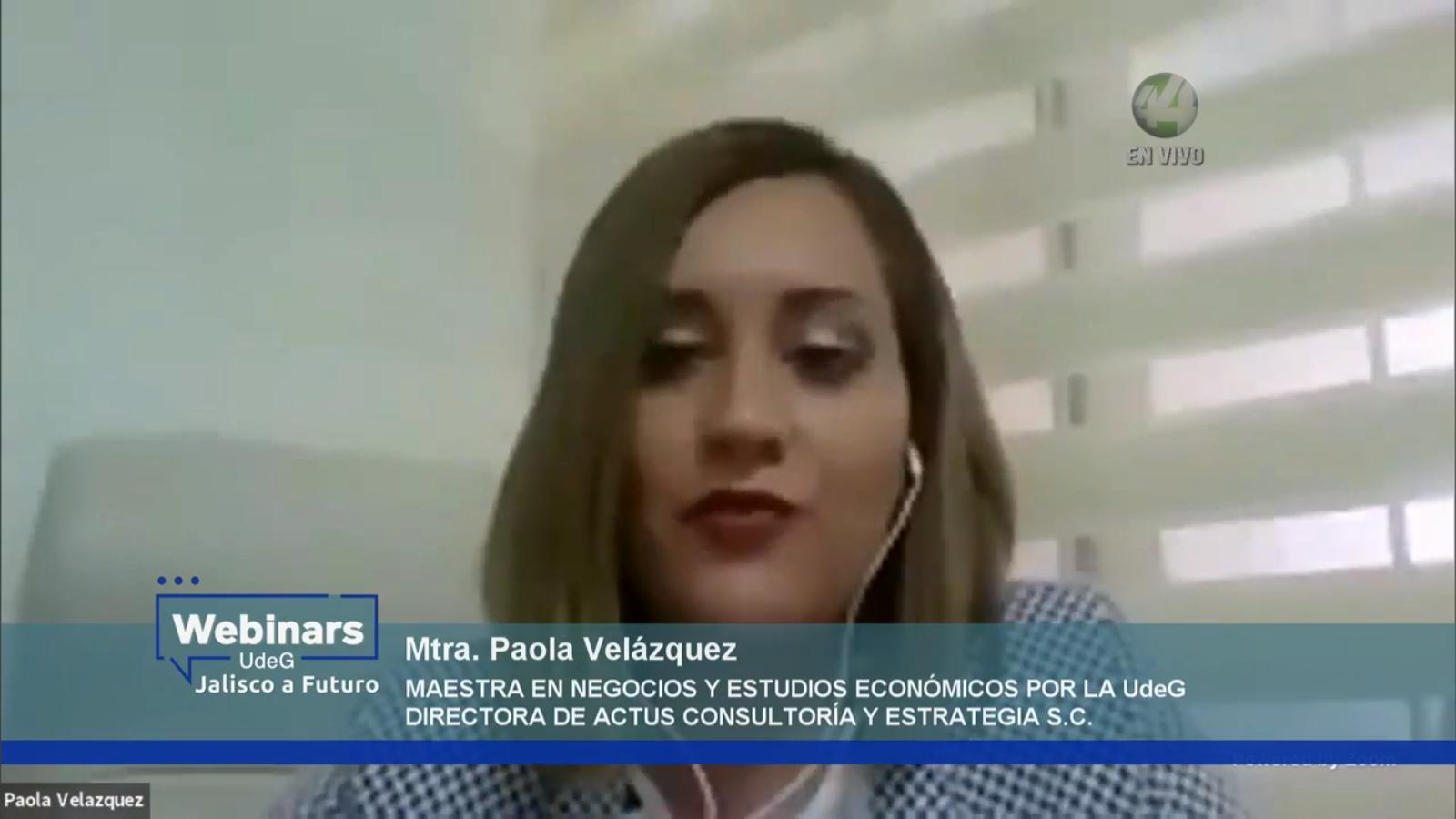 La Directora de Actus Consultoría y Estrategias, SC y maestra en Negocios y Estudios Económicos por la UdeG, Paola Velázquez