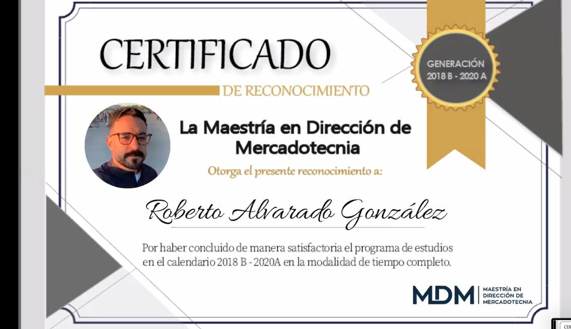 En ceremonia virtual, se gradúan egresados de la maestría en Dirección de Mercadotecnia del CUCEA