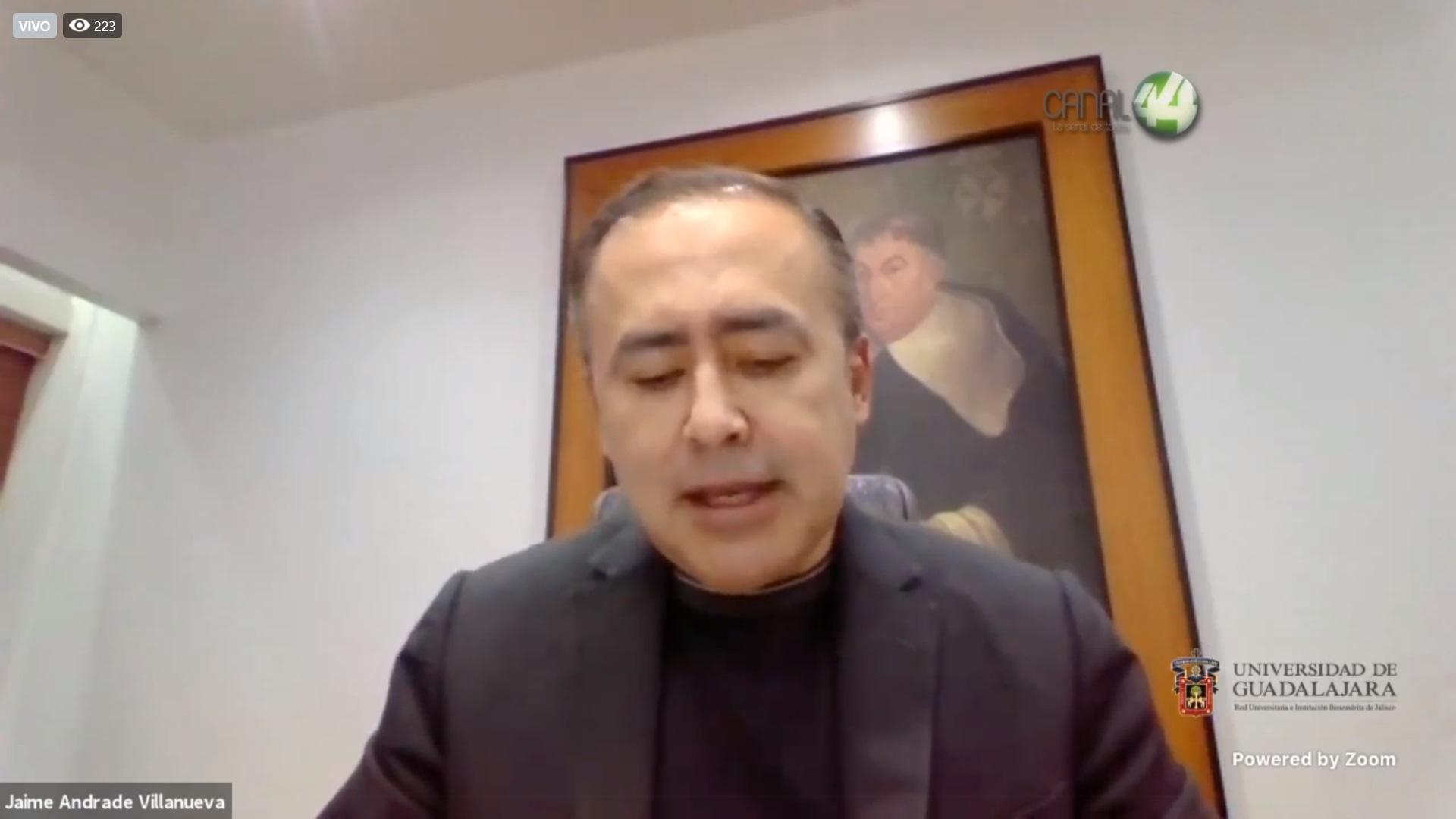 El Director General del OPD Hospital Civil de Guadalajara el doctor Jaime Federico Andrade Villanueva