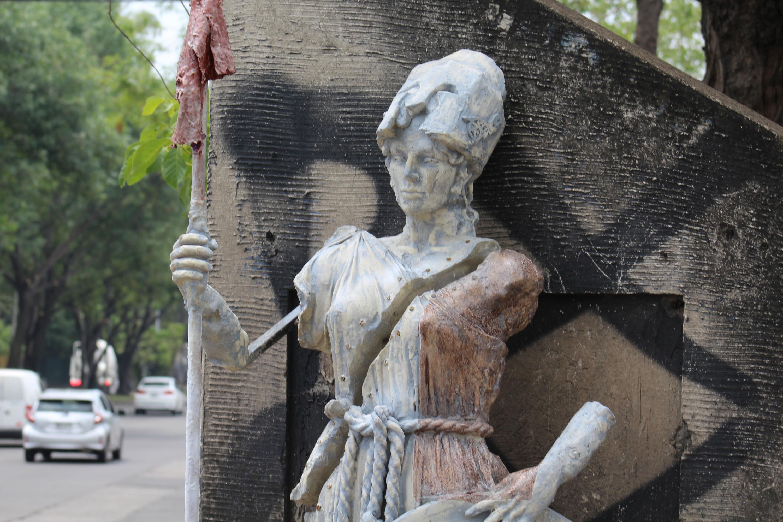Esculturas de la diosa romana de la sabiduría y la guerra