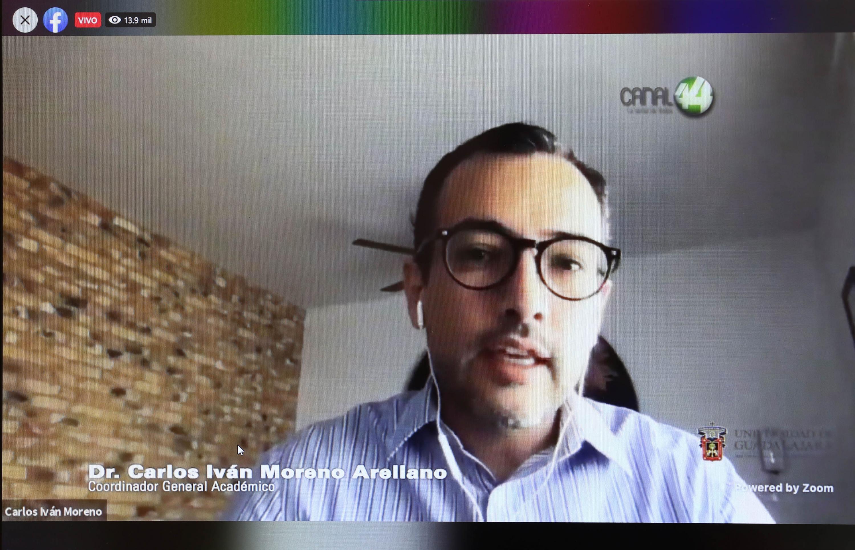 El Coordinador General Académico y de Innovación, doctor Carlos Iván Moreno Arellano