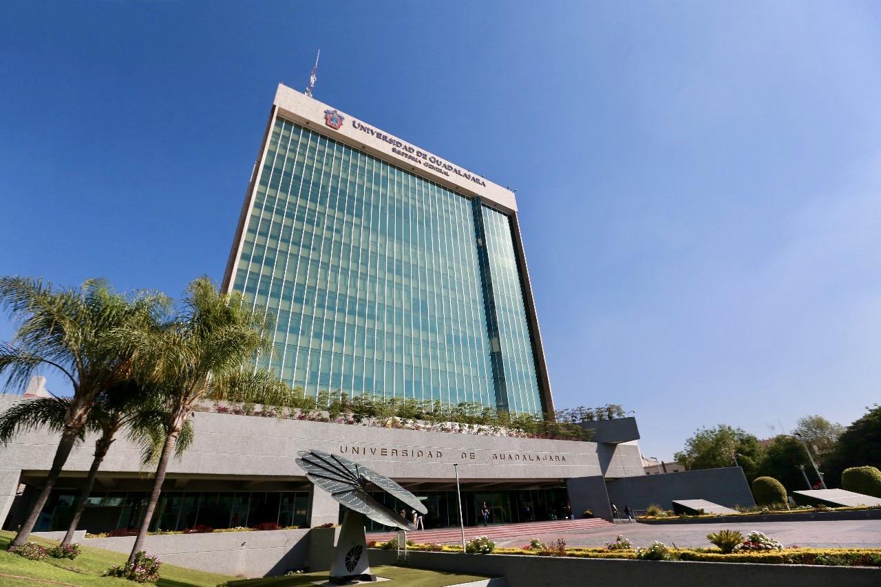 Fachada del edificio de Rectoría General de la Universidad de Guadalajara