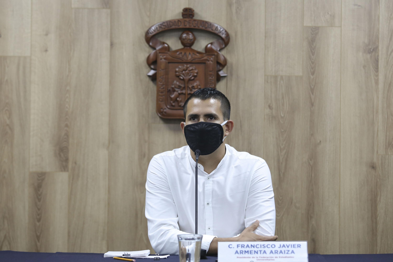 El Presidente de la FEU, Francisco Javier Armenta Araiza