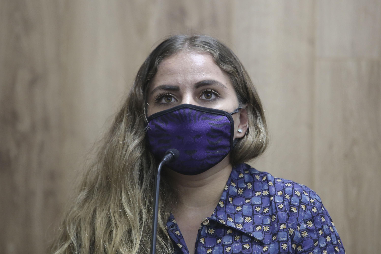 La Secretaria General, María Fernanda Velasco Ábrica