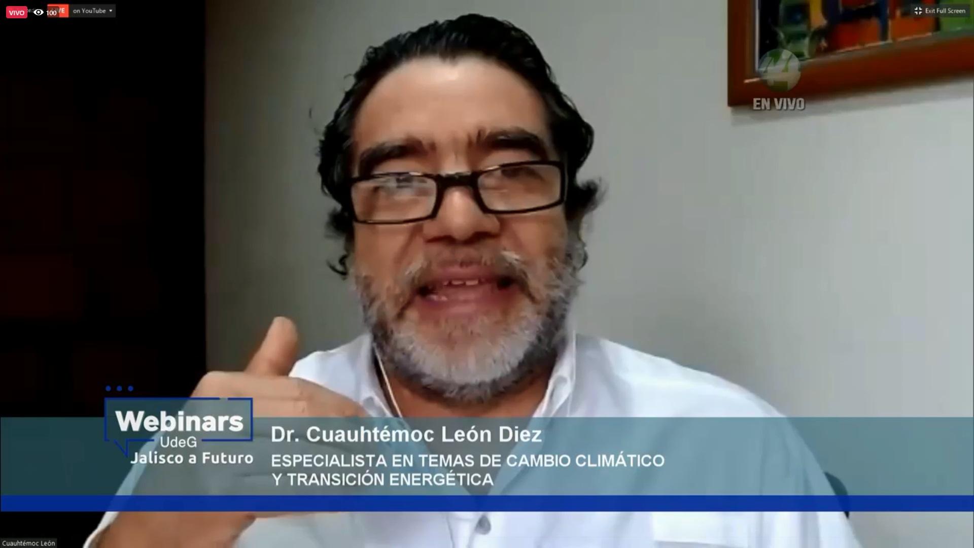 """Expertos discutieron en el webinar """"El futuro ambiental"""", organizado por la UdeG y Jalisco a Futuro"""