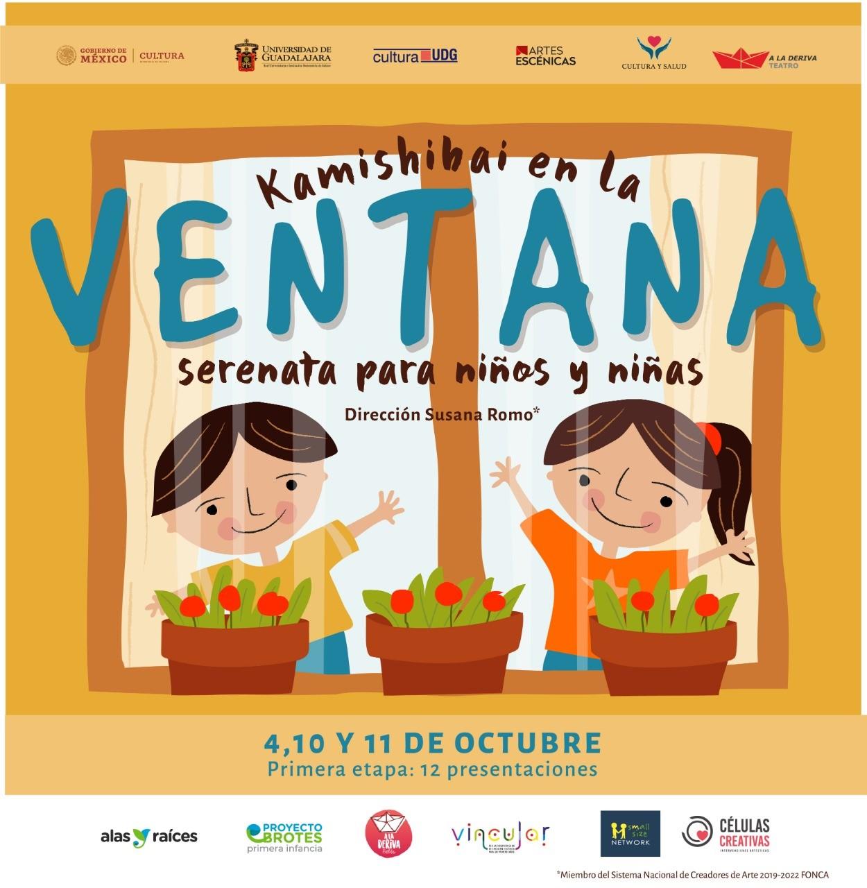 """Convocan a familias para llevar la obra de teatro """"Kamishibai en la ventana, serenata para niñas y niños"""" a sus hogares"""
