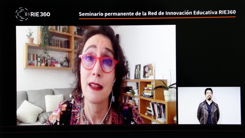 Durante el Seminario permanente de la Red de Innovación Educativa RIE360. Perspectivas y estrategias para la nueva realidad
