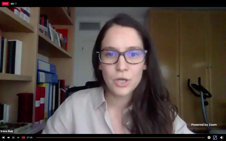 La periodista española Irene Baños Ruiz, del Departamento de Medio Ambiente de la cadena alemana Deutsche Welle (DW)