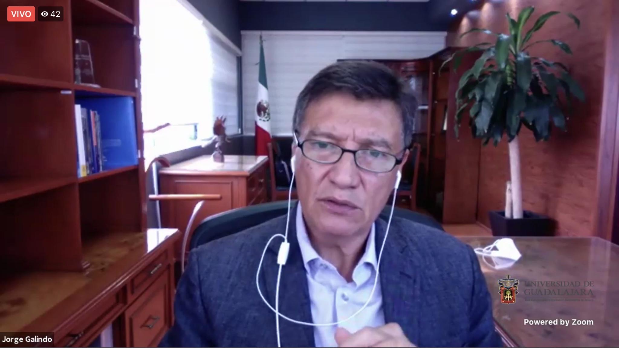 El Rector del CUSur, doctor Jorge Galindo García