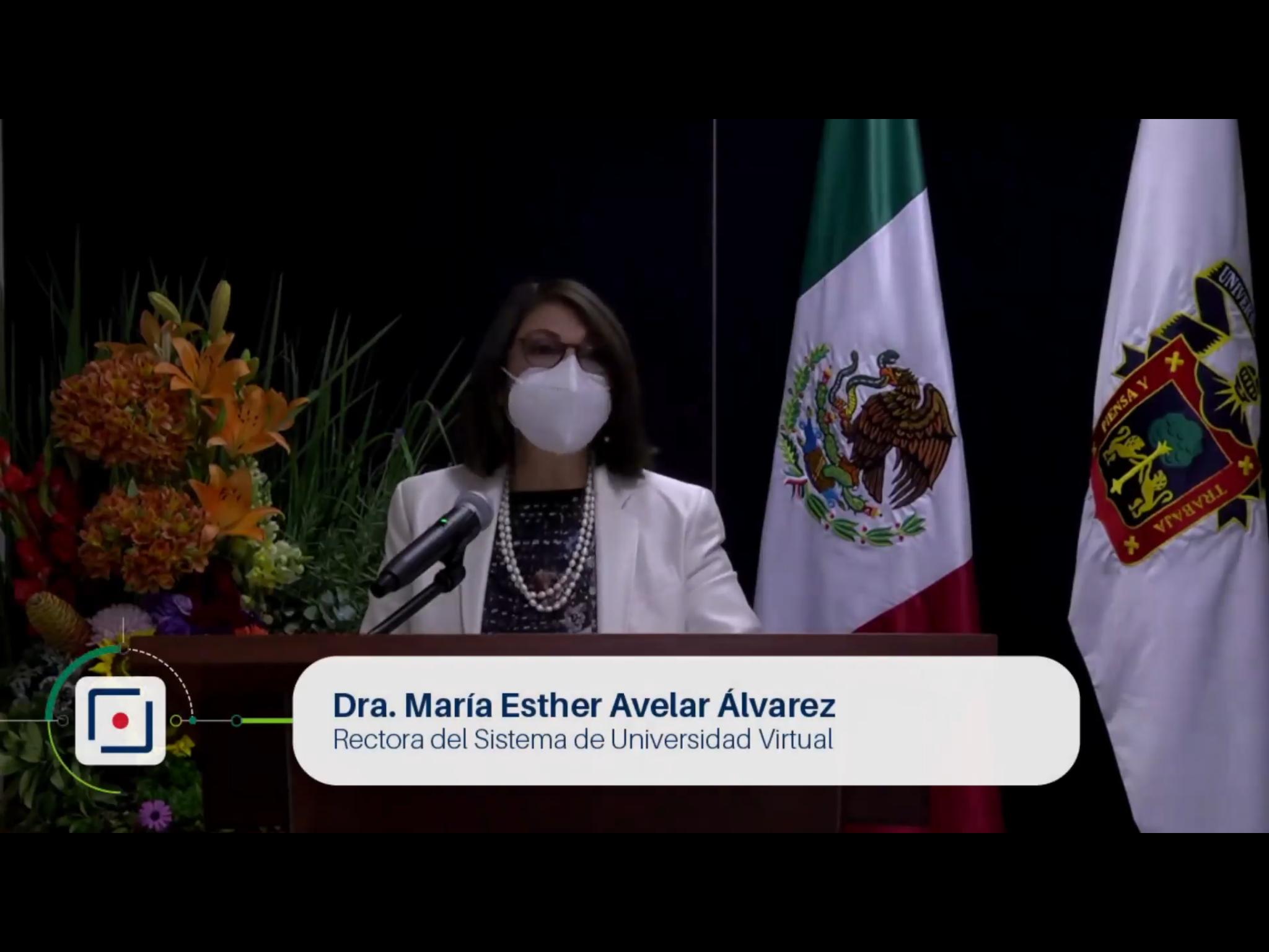 La doctora María Esther Avelar Álvarez, Rectora de UDGVirtual