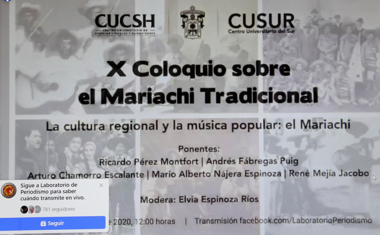 Realizan X Coloquio sobre el Mariachi Tradicional, en formato virtual